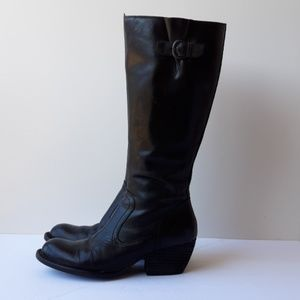 orn Freeda knee-high leather boots